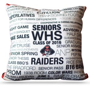 WHS Class 2016 - Pillow Closeup